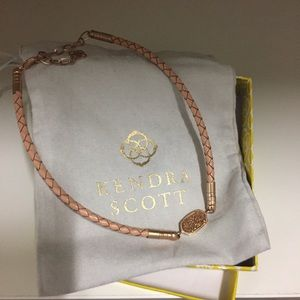 Kendra Scott Rose Gold Braided Leather Choker